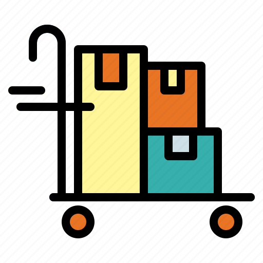 cart, delivery cart, trolley icon