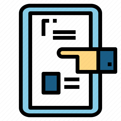 tablet, touch icon