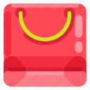 app store, business, commercial, e commerce, paper bag, shopping, shopping bag icon
