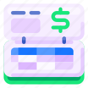 bank, business, commercial, e commerce, finance, ledger, shopping icon