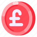 business, coin, commercial, e commerce, money, pound sterling, shopping icon