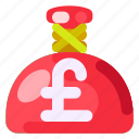 business, commercial, e commerce, pound sterling, sack of money, shopping icon