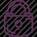 close, key, lock, protection icon