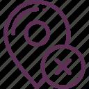 defeat, destination, map, mark, marker, problem icon