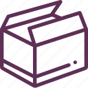 box, mail, open, parcel, success icon