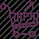 back, basket, purchase, shop icon