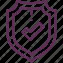 defense, protection, shield, success, threat, virus icon