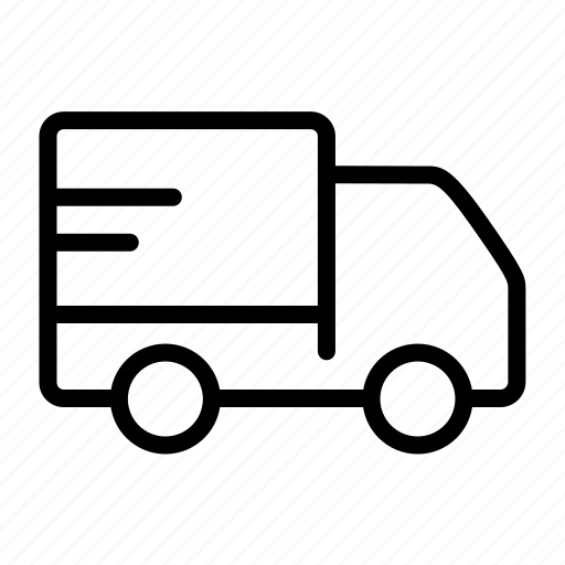 delivery, fast, transport, truck, van icon