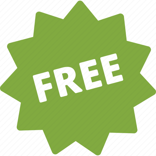 free, shopping, sticker icon