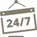 non-stop, open shop icon