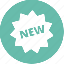 new, new product, sticker icon