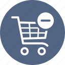 ecommerce, remove, shopping cart icon