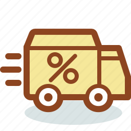 car, courier, delivery, discount, express, machine, shipping icon