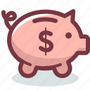bank, budget, money, piggy, safe, saving, savings icon