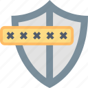 guard, password, personal, protection, safety, security, shield icon