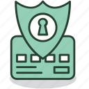 internet, lock, password, protection, safety, security, shield icon