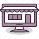 computer, ecommerce, eshop, internet, marketplace, online, shopping icon