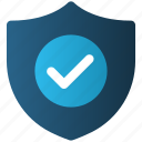 antivirus, check, e-commerce, protection, security, shield, tick