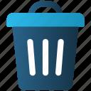 delete, dustbin, e-commerce, trash, waste
