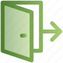 door, e-commerce, exit, logout, shopping, sign out icon