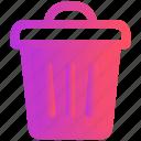 delete, dustbin, e-commerce, trash, waste icon