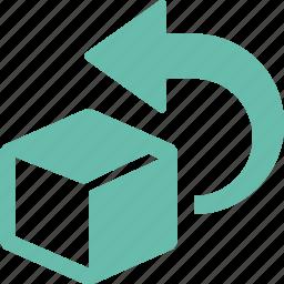 box, return, returns icon