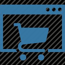 buy online, ecommerce, online shop icon