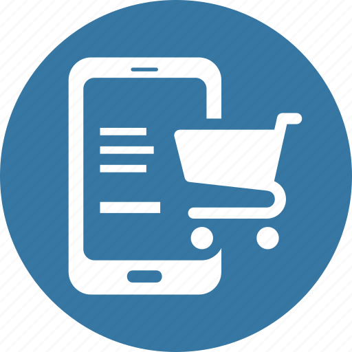 ecommerce, mobile shopping, online shopping icon