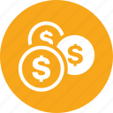 coins, money, save money, savings icon