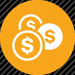 coins, money, save money, savings icon