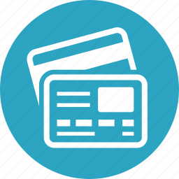 credit cards, online payment icon