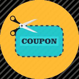commerce, coupon, discount, label, sale, shopping, voucher icon