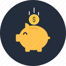 back, bank, finance, investment, money, moneypiggy, savings icon
