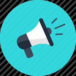 advertising, commerce, media, megaphone, news, promotion, shopping icon