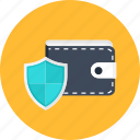 cash, finance, money, protected, safe, secure, wallet icon