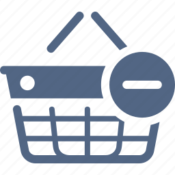 ecommerce, remove from basket, shopping basket icon