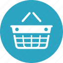 ecommerce, empty basket, shopping basket icon