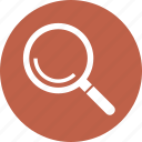 magnifier, magnifying glass, search, search product icon