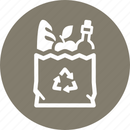 food, groceries, shopping bag icon