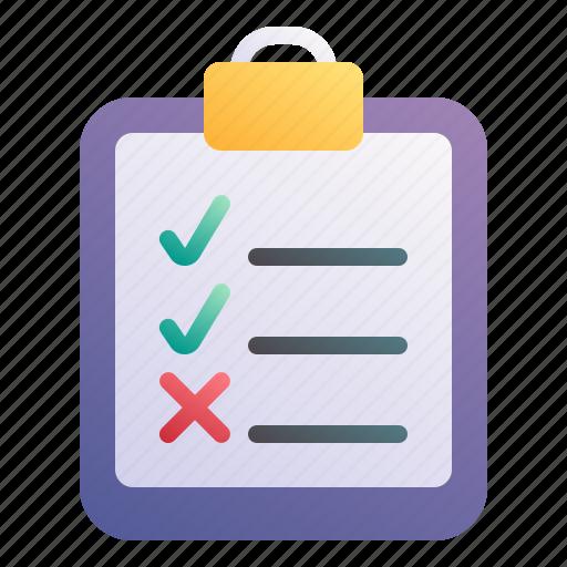 Checklist, task, clipboard, check, list icon - Download on Iconfinder