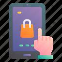 mobile, shopping, ecommerce, online, hand