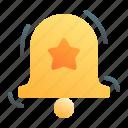 notification, bell, ring, alert, follow