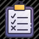 checklist, task, clipboard, check, list