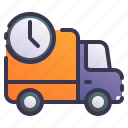 truck, shipping, delivery, time, fast