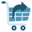 remove, cart, ecommerce, shopping, arrow