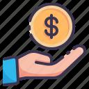 payment, hand, coin, money, cash