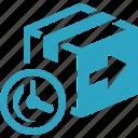 box, fast returns, return icon