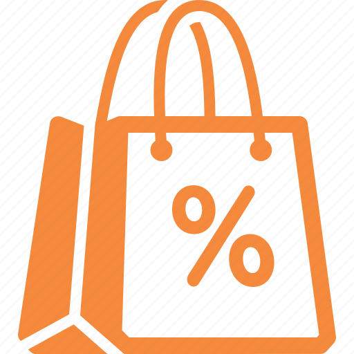 discount, sale, shopping bag icon
