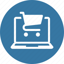 e-commerce, laptop, online shopping icon