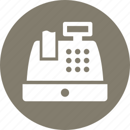cash register, receipt, shopping icon